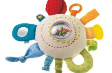 haba teether cuddly rainbow