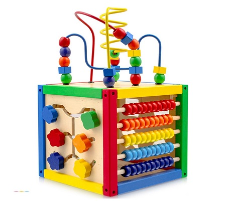 Activity Cube Wooden Bead Maze